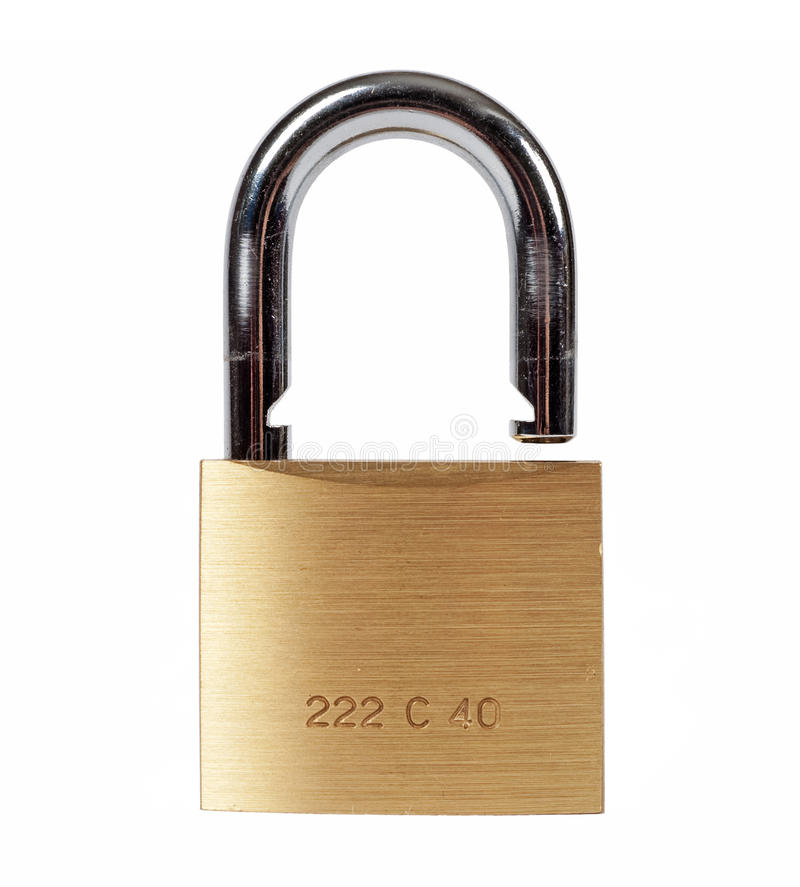 Open lock isolated royalty free stock images