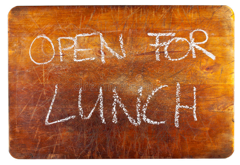 Open for lunch royalty free stock photos