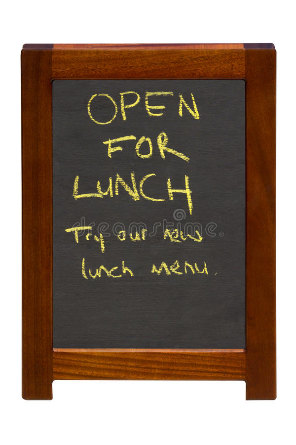 Open For Lunch Stock Photography