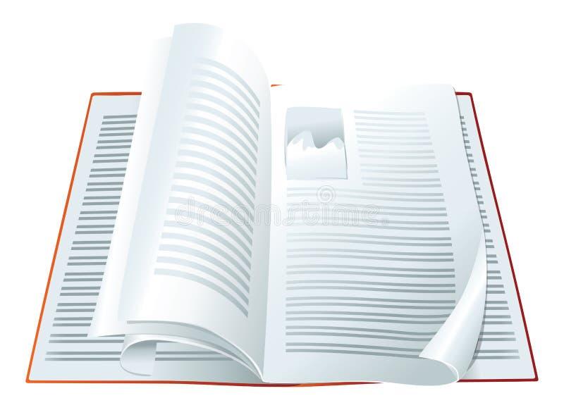 Download Open magazine stock vector. Image of background, design - 23252608