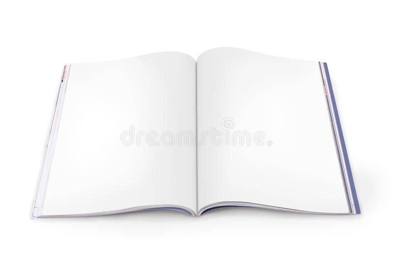 Open Magazine with Blank Pages stock images
