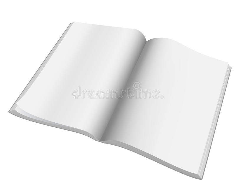 Open magazine with blank pages.Vector.