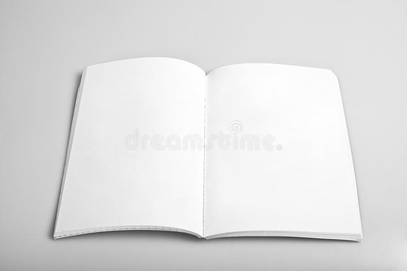 Open magazine with blank pages royalty free stock photography