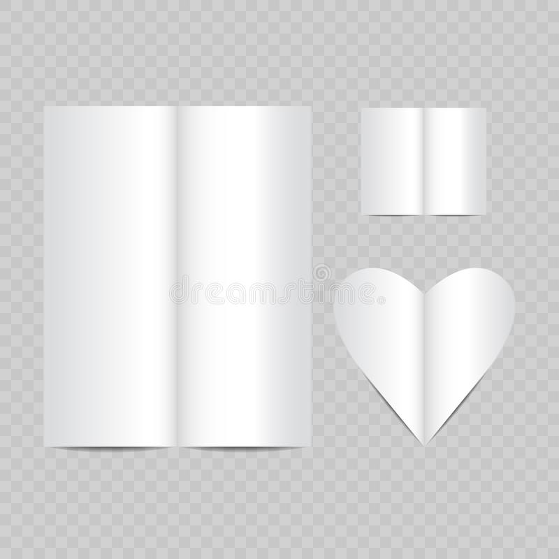 open magazine empty pages vector white realistic vector illustration