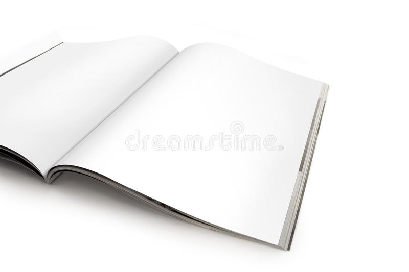 Download Open Magazine Spread With Blank Pages Stock Photo - Image: 17429744