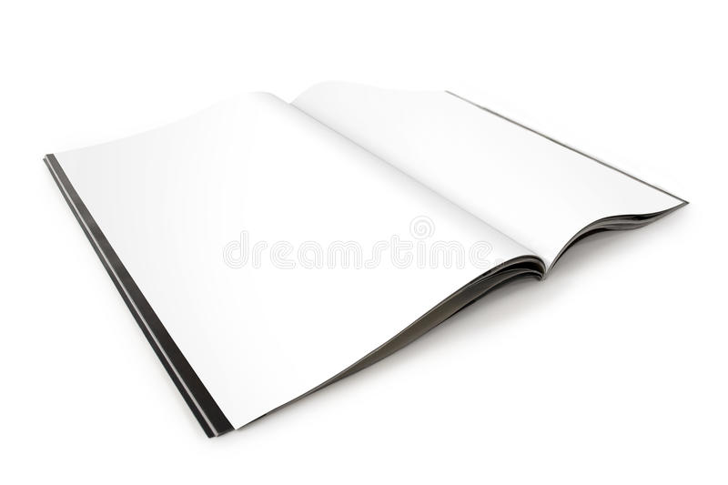 Open Magazine Spread with Blank Pages royalty free stock photos