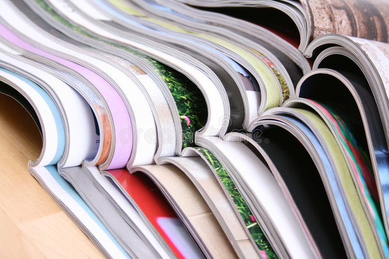 Open magazines royalty free stock images