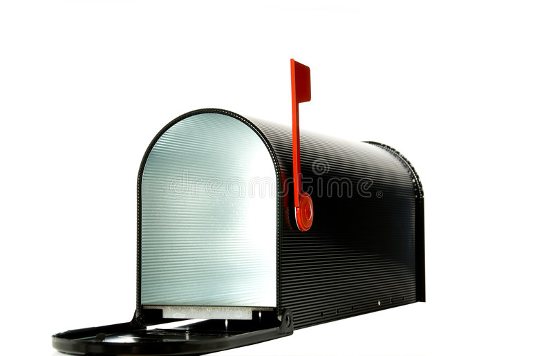 Open mail box stock images