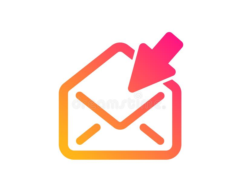 Open Mail icon. View Message correspondence sign. Vector. Open Mail icon. View Message correspondence sign. E-mail symbol. Classic flat style. Gradient open Mail stock illustration