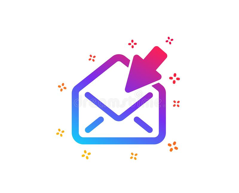 Open Mail icon. View Message correspondence sign. Vector. Open Mail icon. View Message correspondence sign. E-mail symbol. Dynamic shapes. Gradient design open vector illustration