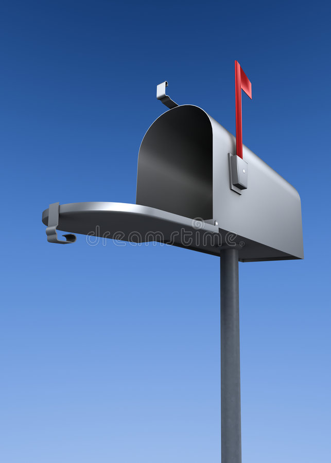 Download Open mailbox stock illustration. Image of silver, raised - 1620906