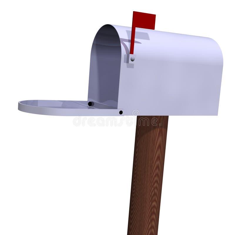 Open Mailbox vector illustration