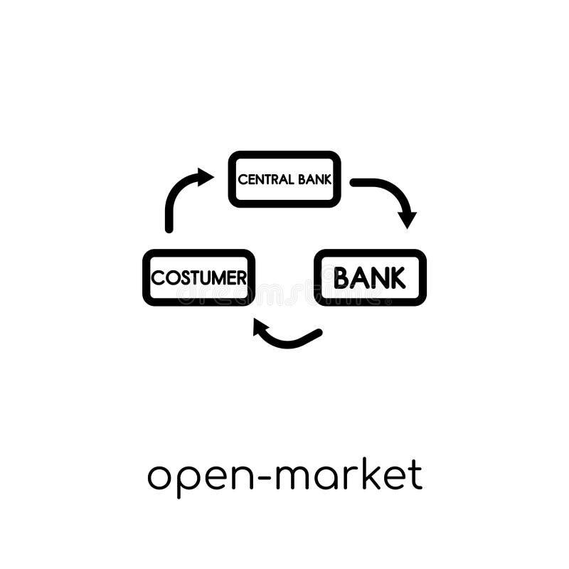 Open-market operations icon. Trendy modern flat linear vector Op vector illustration