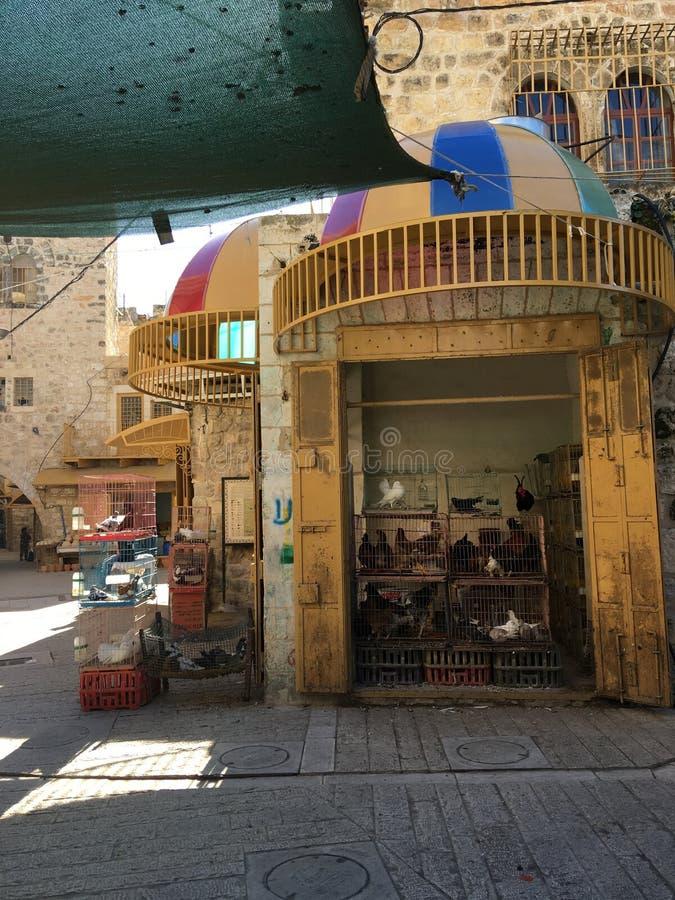 Open markt in Hébron, Cisjordanië royalty-vrije stock foto's