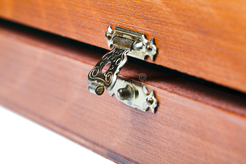 Download Open Metal Lock Of Wooden Box Stock Image - Image of metal, lock: 32867261