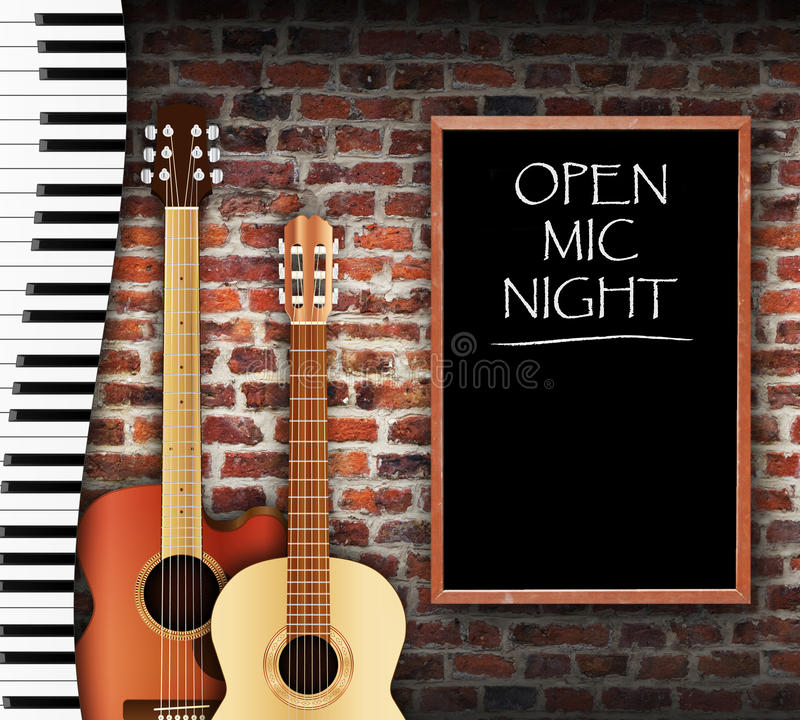 Open Mic Night vector illustratie