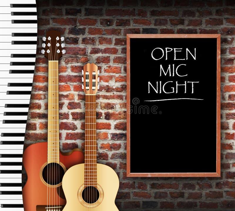 Open Mic Night vector illustration