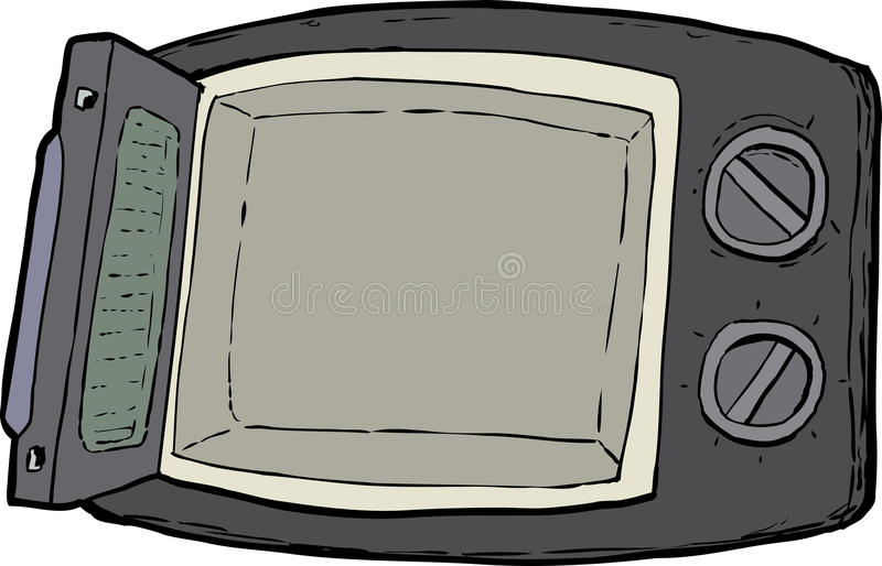 Cartoon Microwave Oven ~ Open microwave oven cartoon stock illustration