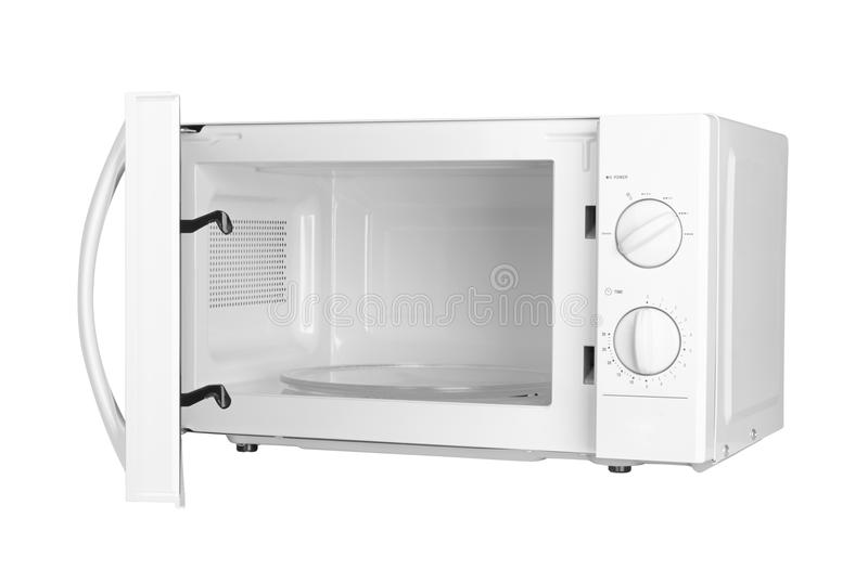 Open microwave oven stock image. Image of fast, warm ...