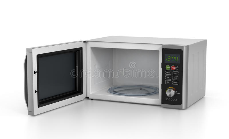 Open microwave oven vector illustration