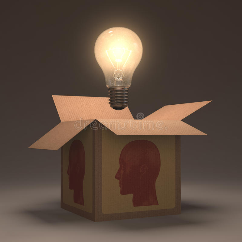 Download Open Mind stock illustration. Image of idea, bulb, imagination - 31431456