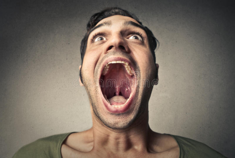 Open mouth stock photography