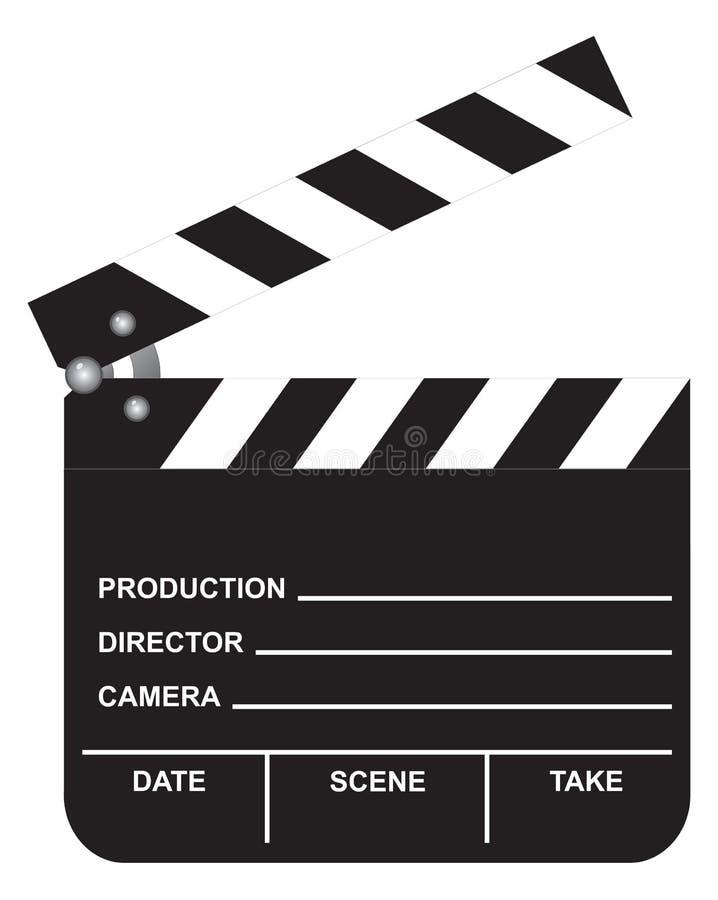 Open Movie Clapboard royalty free illustration