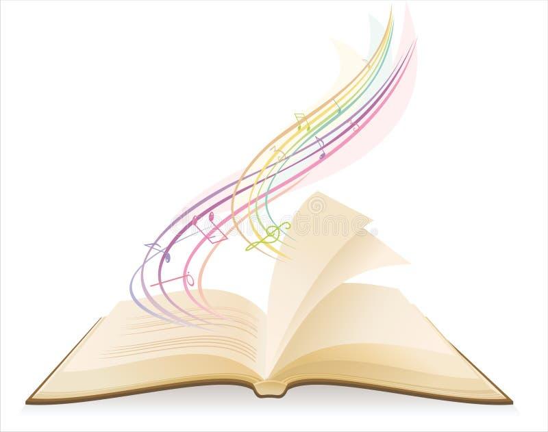 Open muziekboek royalty-vrije illustratie