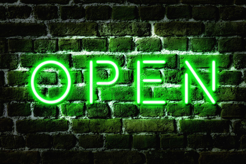 Open Neon Sign Stock Image Image 31584851