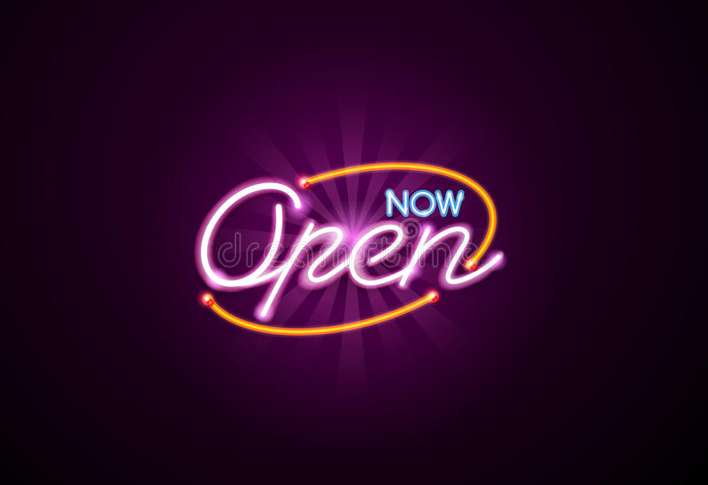Open neonteken vector illustratie