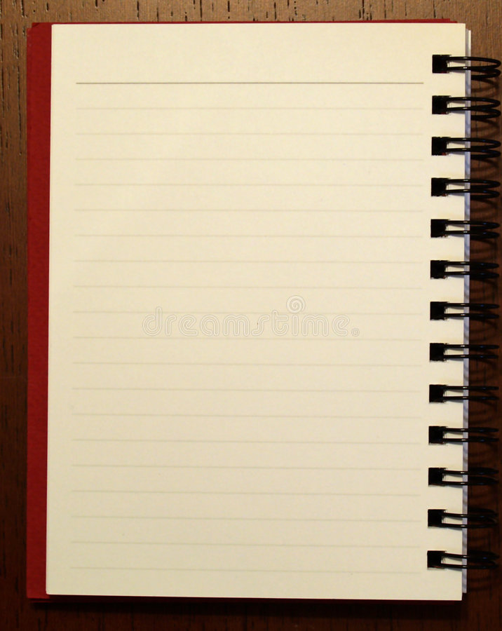 Open note book 1 stock photography