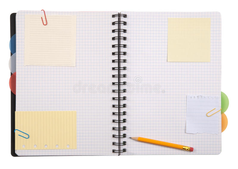 Download Open notebook stock image. Image of page, office, note - 16666149