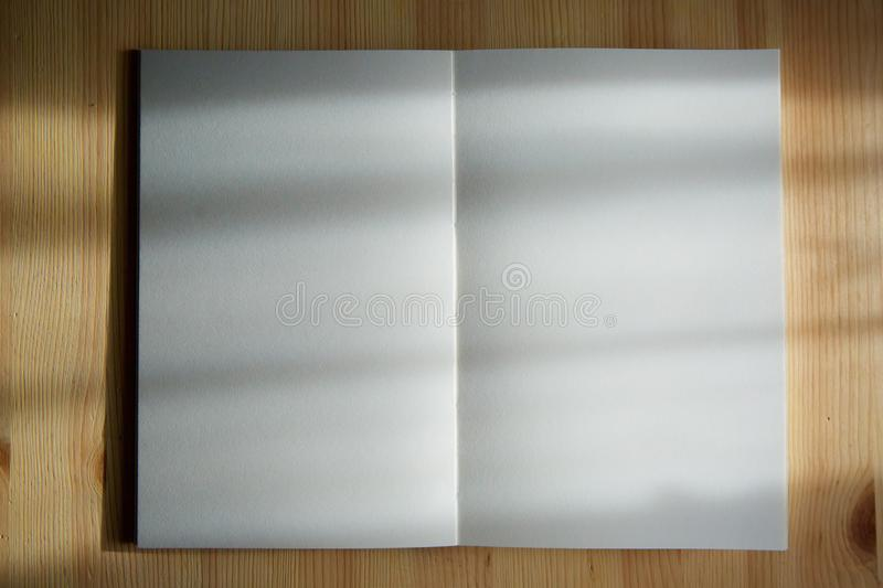 An open notebook with blank pages royalty free stock photos