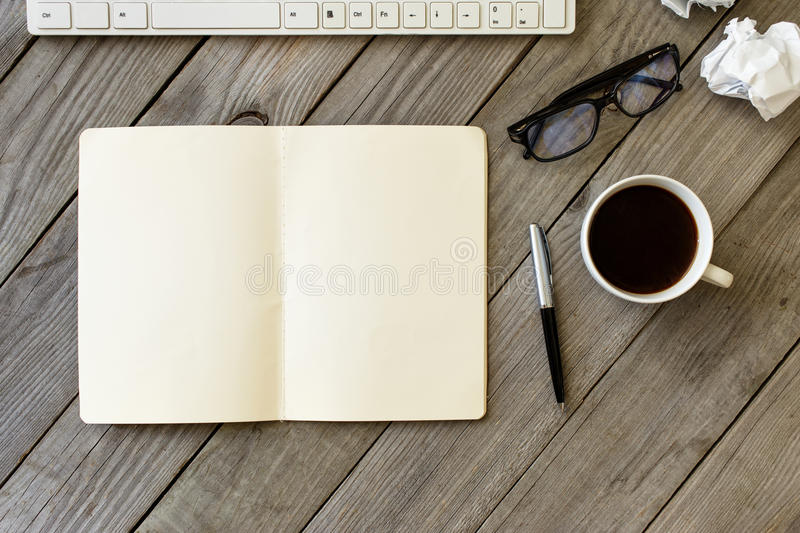 Open Notebook With Blank Pages royalty free stock image