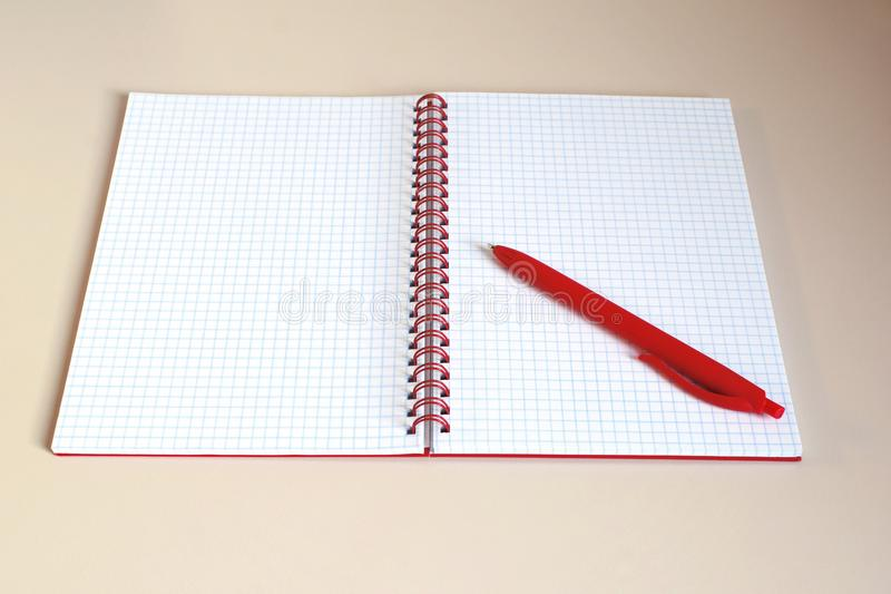 Open notebook with blank pages royalty free stock photo