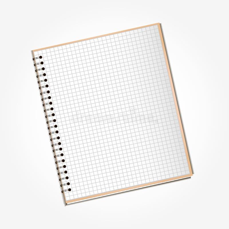 Open_notebook_in_a_cage fotografia de stock