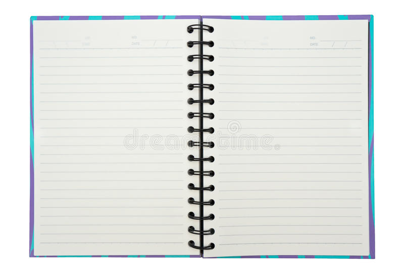 Download Open notebook stock photo. Image of draw, curl, office - 39504626
