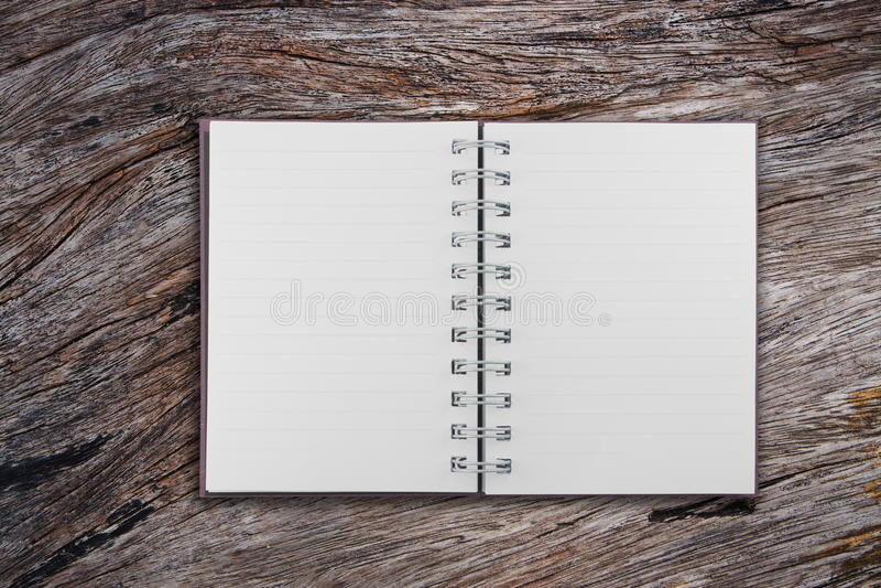 Download Open Notebook On  Old Teak Wood Stock Image - Image: 23043199