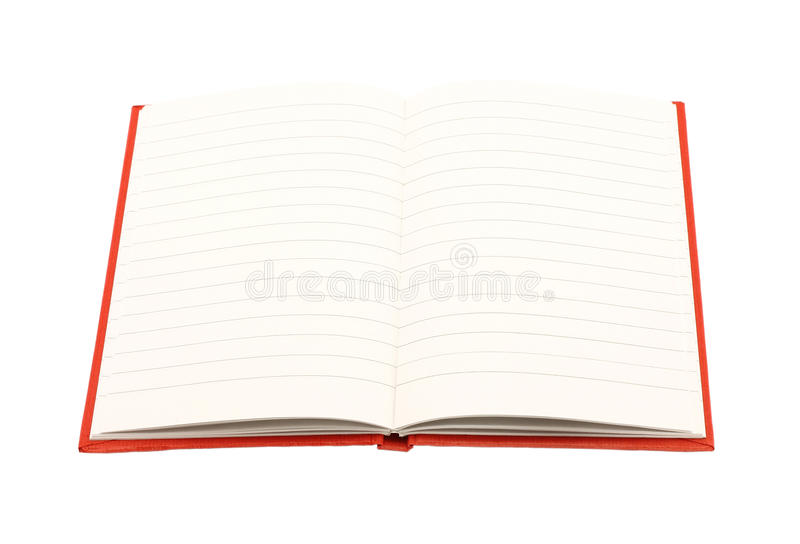 Open notepad royalty free stock image