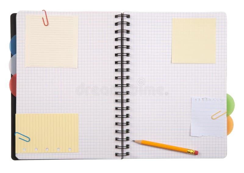 Open notitieboekje royalty-vrije stock afbeeldingen