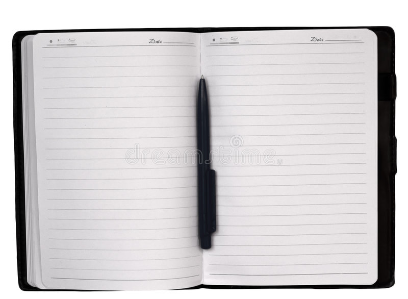 Open notitieboekje royalty-vrije stock foto