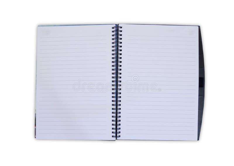 Open Notitieboekje stock afbeelding