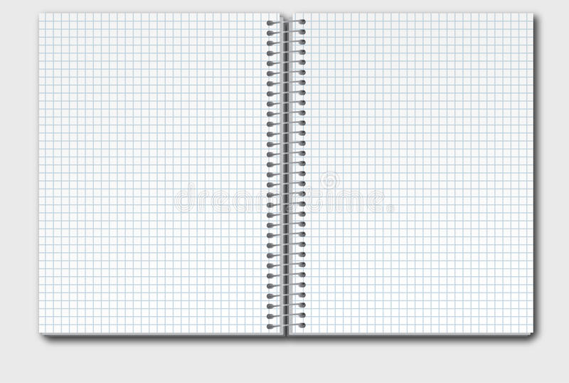 Open Notitieboekje in Doos stock illustratie