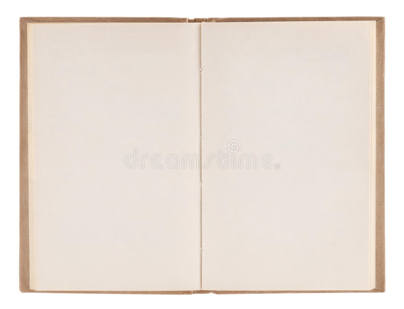 Download Open old blank book stock image. Image of literature - 23245421