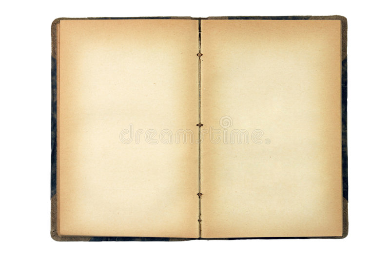 Download Open old blank book stock image. Image of background, decay - 6260549