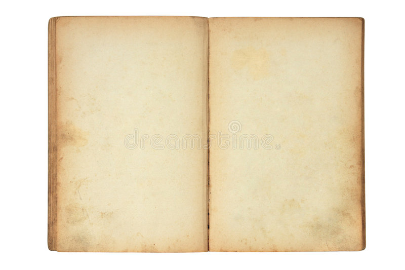 Download Open old blank book stock image. Image of closeup, retro - 6280871