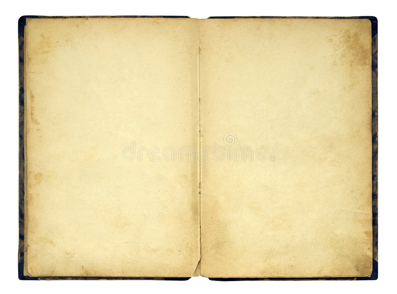 Open old blank book royalty free stock images