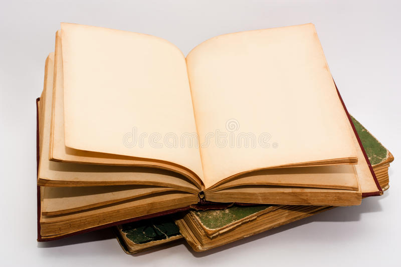 Open old book royalty free stock image