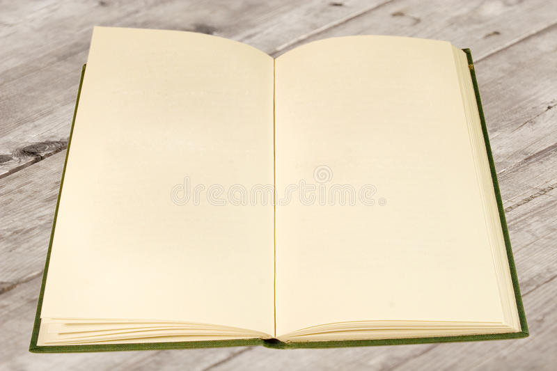 Download Open Old Book With Blank Pages Stock Image - Image: 11944287