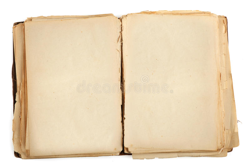 Open old book royalty free stock photo